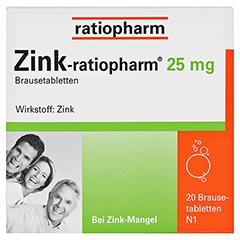 Zink-ratiopharm 25mg 20 Stück N1 - Vorderseite
