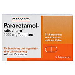 Paracetamol-ratiopharm 1000mg 10 Stück N1 - Vorderseite