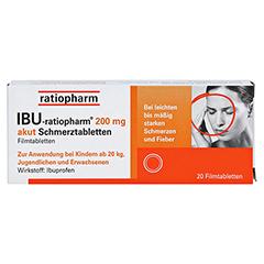 IBU-ratiopharm 200 akut Schmerztabletten 20 Stück - Vorderseite