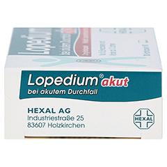 Lopedium akut bei akutem Durchfall 10 Stück N1 - Linke Seite