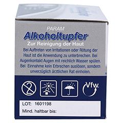 ALKOHOLTUPFER Param 100 Stück - Linke Seite