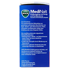 WICK MediNait Erkältungssirup mit Honig-und Kamillenaroma 120 Milliliter - Linke Seite