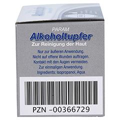 ALKOHOLTUPFER Param 100 Stück - Rechte Seite