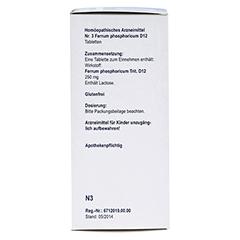 BIOCHEMIE Orthim 3 Ferrum phosphoricum D 12 Tabl. 400 Stück N3 - Rechte Seite