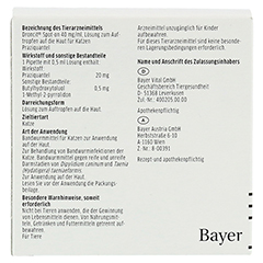 Droncit Spot-on 40 mg/ml 4x0.5 Milliliter - Rückseite