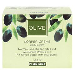 PLANTANA Olive Butter Körper Creme 500 Milliliter - Vorderseite