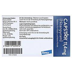 CAPSTAR 11,4 mg Tabletten f.Katzen/kleine Hunde 6 Stück - Rückseite