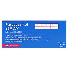 Paracetamol STADA 500mg 20 Stück N2 - Rückseite