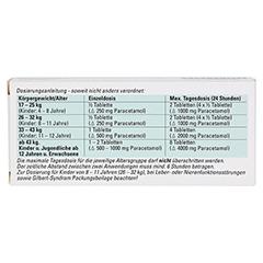 Paracetamol BC 500mg 20 Stück N2 - Rückseite