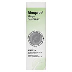 RINUPRET Pflege Nasenspray 15 Milliliter - Rückseite