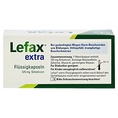 Lefax Extra Flüssigkapseln 50 Stück - Rückseite