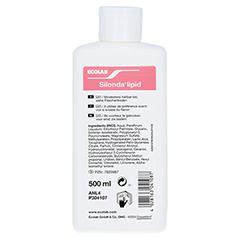SILONDA lipid Hautpflege Lotion Spenderflasche 500 Milliliter - Rückseite