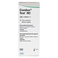 COMBUR 5 Test HC Teststreifen 10 Stück - Rückseite