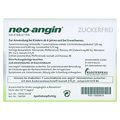 Neo-Angin Halstabletten zuckerfrei 24 Stück N1 - Rückseite