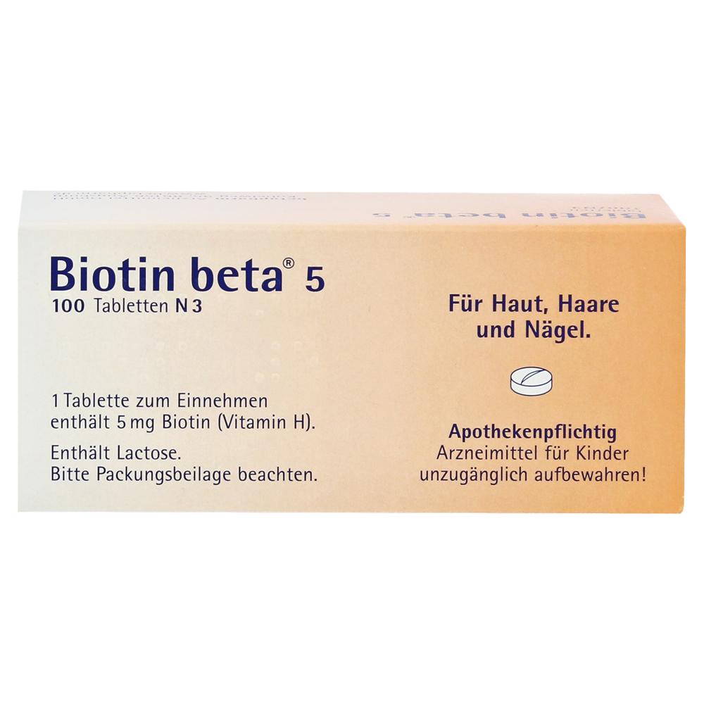 Erfahrungen Zu Biotin Beta 5 Tabletten 100 Stück N3 Medpex