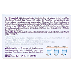 XLS Medical Kohlenhydrateblocker Tabletten 60 Stück - Rückseite