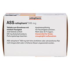 ASS-ratiopharm 500mg 100 Stück - Oberseite
