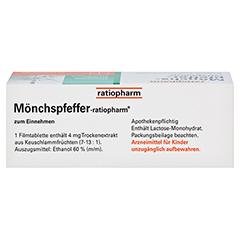 MÖNCHSPFEFFER-ratiopharm 4mg 60 Stück N2 - Oberseite