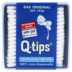 Q TIPS Wattestäbchen Würfelbox 206 Stück - Oberseite