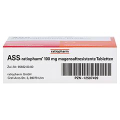 ASS-ratiopharm 100mg 100 Stück N3 - Unterseite