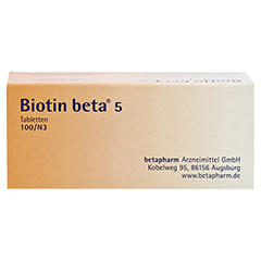 BIOTIN BETA 5 Tabletten 100 Stück N3 - Unterseite