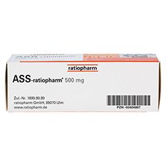 ASS-ratiopharm 500mg 50 Stück N3 - Unterseite