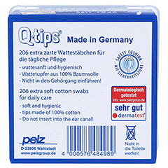 Q TIPS Wattestäbchen Würfelbox 206 Stück - Unterseite
