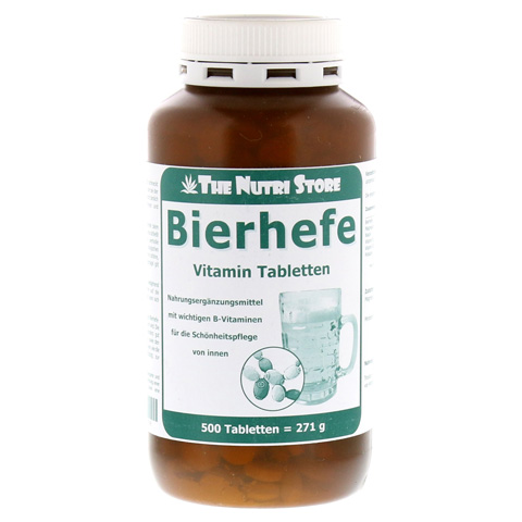 BIERHEFE 500 mg Vitamin Tabletten 500 Stück