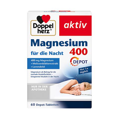 DOPPELHERZ Magnesium 400 für die Nacht Tabletten 60 Stück