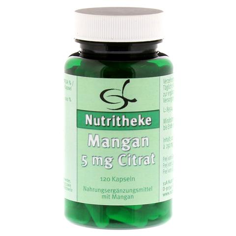 MANGAN 5 mg Citrat Kapseln 120 Stück