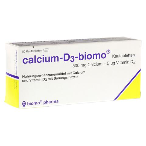 CALCIUM D3 biomo Kautabletten 500+D 50 Stück