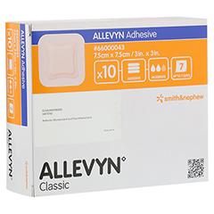 ALLEVYN Adhesive 7,5x7,5 cm haftende Wundauflage 10 Stück