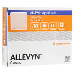 ALLEVYN Ag Adhesive 10x10 cm Wundverband 10 Stück