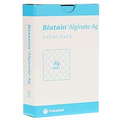 BIATAIN Alginate Ag Kompressen 5x5 cm mit Silber 10 Stück