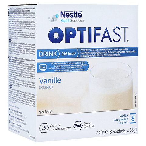 Optifast home Drink Vanille 8x55 Gramm