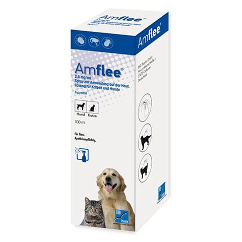 AMFLEE 2,5 mg/ml Spray Lösung f.Hunde/Katzen 100 Milliliter