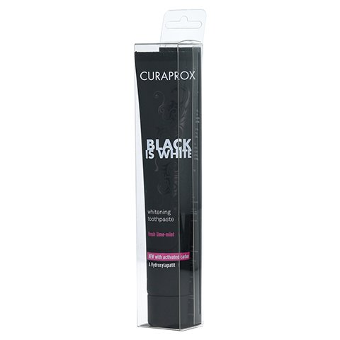 CURAPROX Black is White Kohlezahnpasta 90 Milliliter