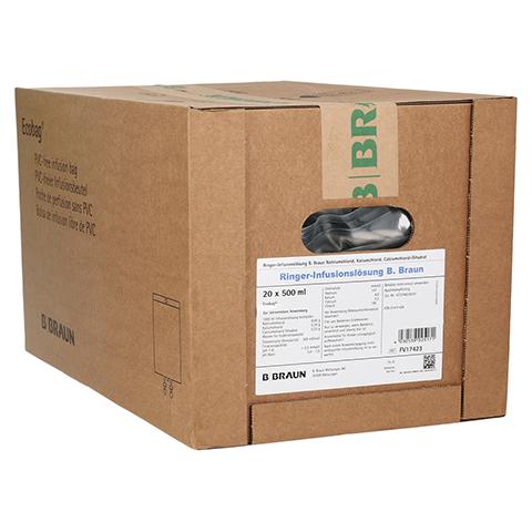 RINGER LÖSUNG B.Braun Ecobag Infusionslösung 20x500 Milliliter N3