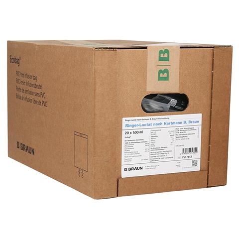 RINGER LACTAT n.Hartm.B.Braun Ecobag Infusionslsg. 20x500 Milliliter N3