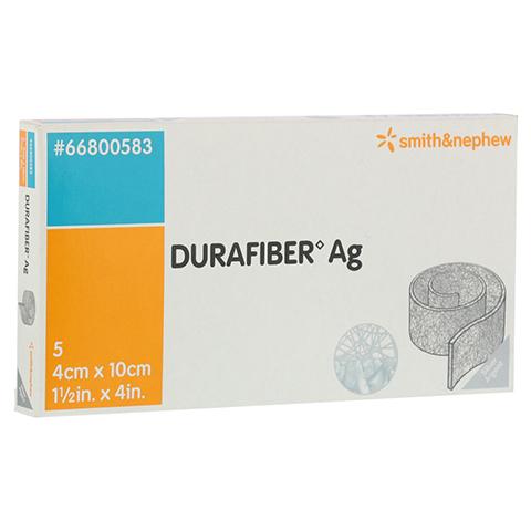 DURAFIBER Ag 4x10 cm Verband 5 Stück