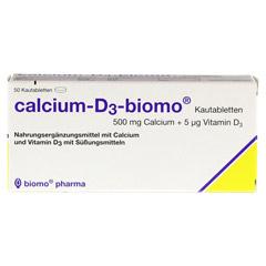 CALCIUM D3 biomo Kautabletten 500+D 50 Stück - Vorderseite