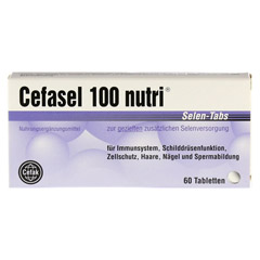 CEFASEL 100 nutri Selen-Tabs 60 Stück - Vorderseite