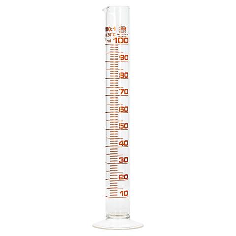 MESSZYLINDER Glas 100 ml graduiert 1 Stück