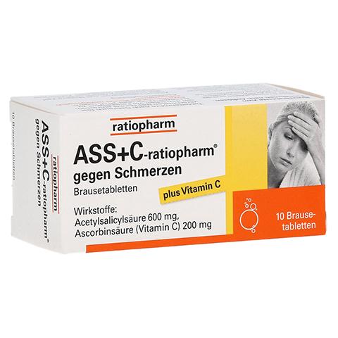 ASS+C-ratiopharm gegen Schmerzen 10 Stück