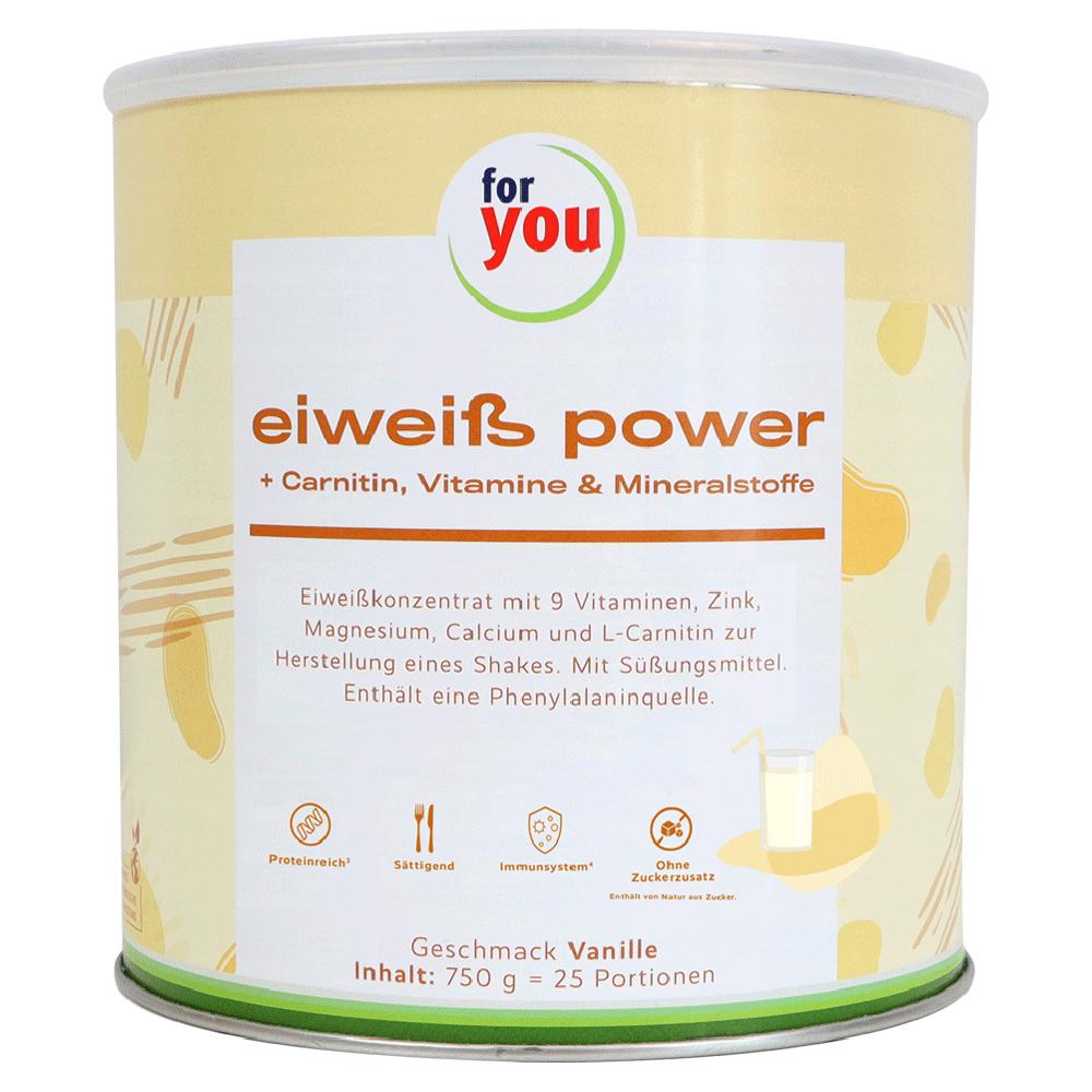 FOR YOU Eiweiß Power Vanille 750 Gramm