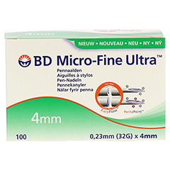 BD MICRO-FINE Ultra Pen-Nadeln 0,23x4 mm 100 Stück - Vorderseite