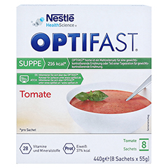 OPTIFAST home Suppe Tomate Pulver 8x55 Gramm - Vorderseite