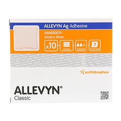 ALLEVYN Ag Adhesive 10x10 cm Wundverband 10 Stück - Vorderseite