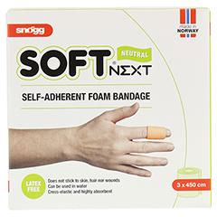 SOFT NEXT selbsthaftender Verband 3 cmx4,5 m 1 Stück - Vorderseite
