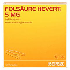 FOLSÄURE HEVERT 5 mg Ampullen 100 Stück - Vorderseite